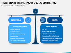 Traditional Marketing Vs Digital Marketing PPT Slide 1
