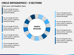 Circle Infographics – 9 Sections PPT Slide 1