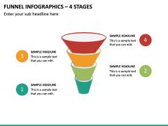 Funnel Infographics – 4 Stages PPT Slide 2
