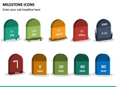 Milestone Icons PPT Slide 4