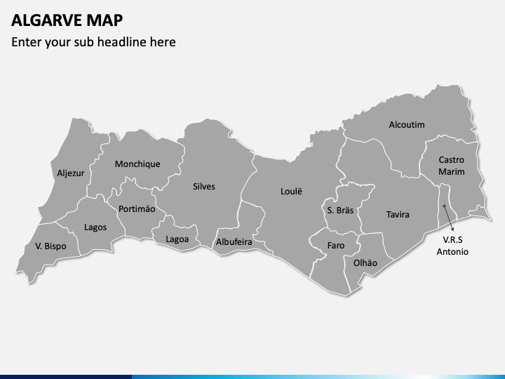 Algarve Map PPT Slide 1