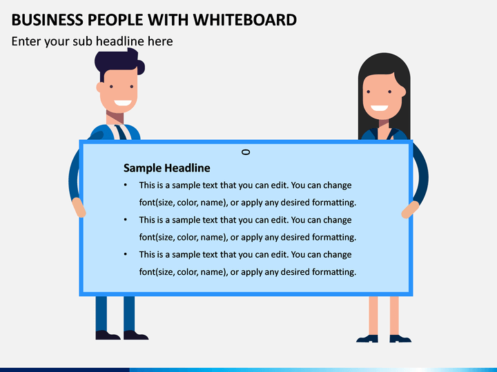 Business People With Whiteboard PPT Slide 1
