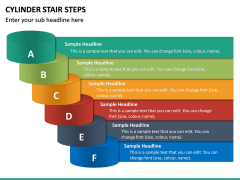 Cylinder Stair Steps PPT Slide 5