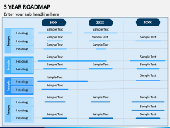 3 Year Roadmap PPT Slide 3