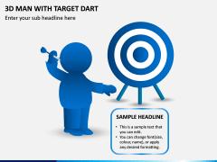 3d Man With Target Dart PPT Slide 1