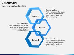 Linear Venn Diagram PPT Slide 4