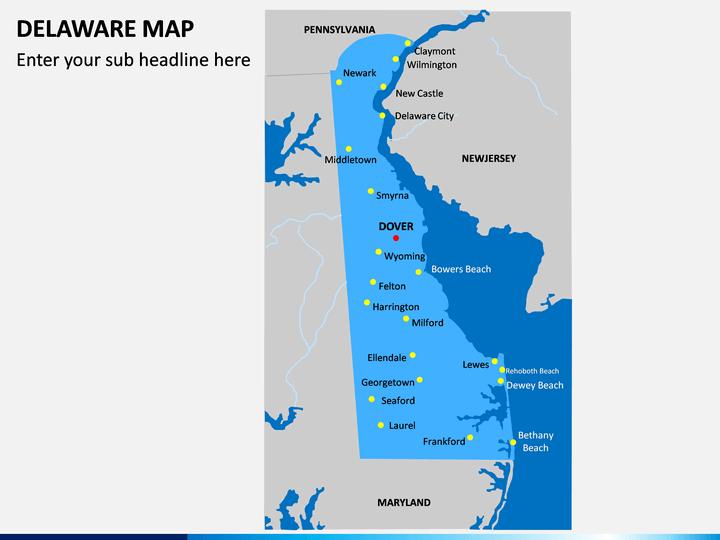 Delaware Map PPT Slide 1