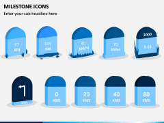 Milestone Icons PPT Slide 2