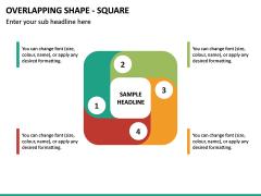 Overlapping Shape - Square PPT Slide 2