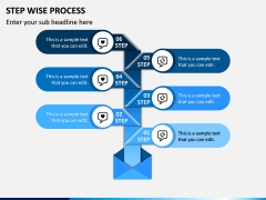 Step Wise Process PPT Slide 4