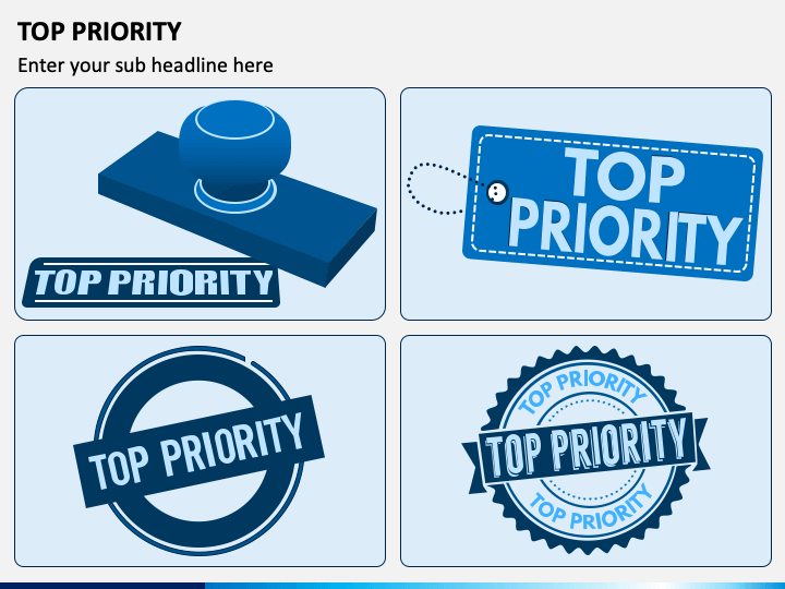 Top Priority Graphics PPT Slide 1