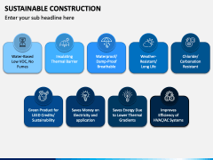 Sustainable Construction PPT Slide 1
