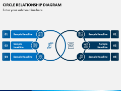 Circle Relationship Diagram PPT Slide 9