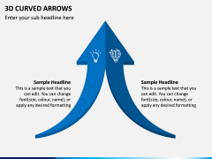 3D Curved Arrows PPT Slide 11