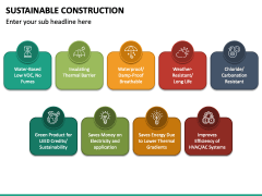 Sustainable Construction PPT Slide 2