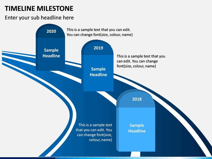 Timelines Milestone PowerPoint Template  SketchBubble