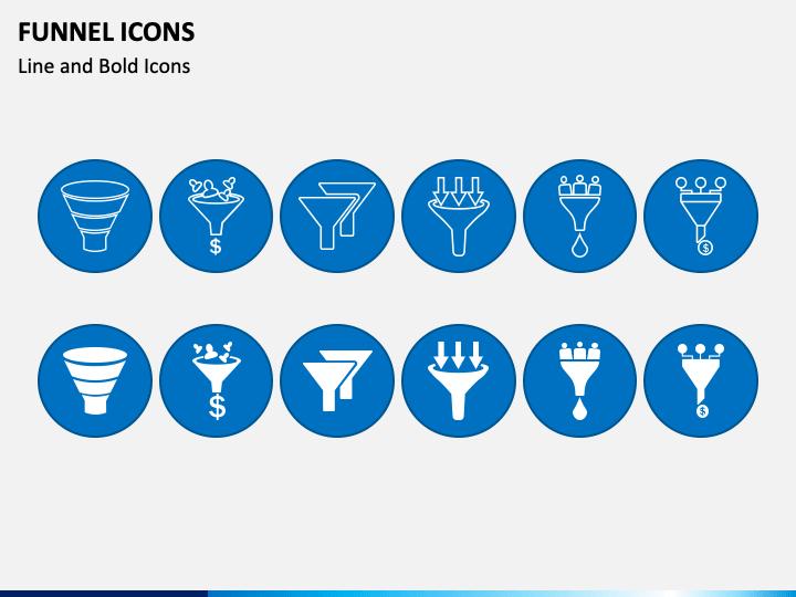 Funnel Icons PPT Slide 1