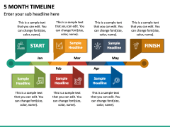 5 Month Timeline PPT Slide 2