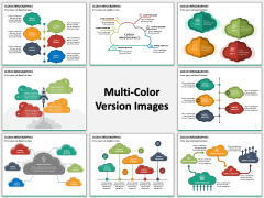 Cloud Infographics Multicolor Combined