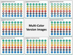 Information Technology (IT) Icons Multicolor Combined