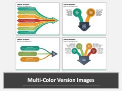 Arrow Merging PPT Multicolor Combined
