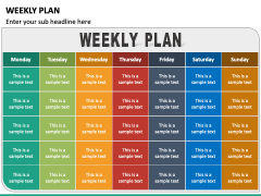Weekly Plan PPT Slide 3