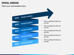 Spiral Arrow Infographics PPT Slide 7