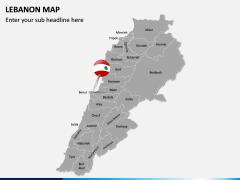 Lebanon Map PPT Slide 2