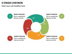 4 Stages Chevron PPT Slide 2