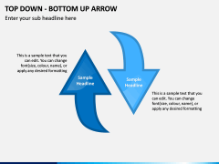 Top Down Bottom Up Arrow PPT Slide 6