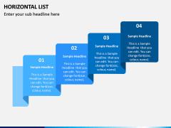 Horizontal List Infographics PPT Slide 4