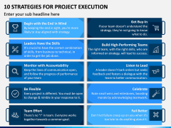 10 Strategies for Project Execution PPT Slide 1