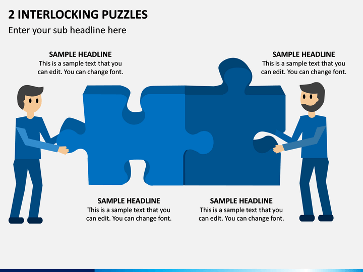 2 Interlocking Puzzles PPT Slide 1