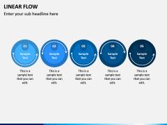 Linear Flow Infographics PPT Slide 1