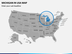 Michigan Map PPT Slide 5