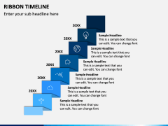 Ribbon Timeline PPT Slide 4