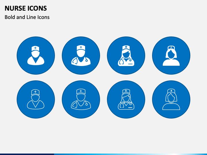 Nurse Icons PPT Slide 1