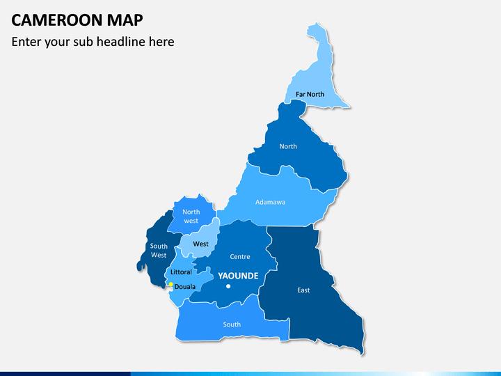 Cameroon Map PPT Slide 1