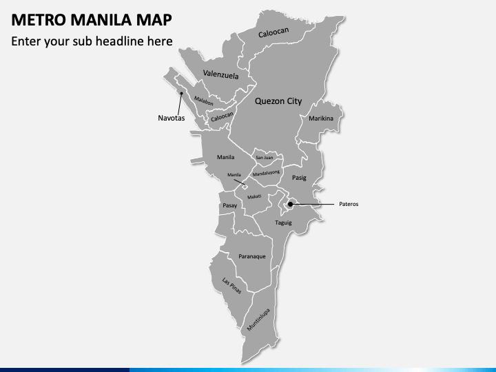Metro Manila Map PPT Slide 1