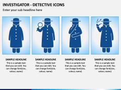 investigator Icons PPT Slide 1