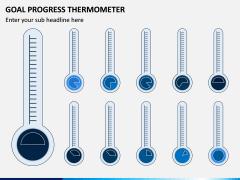 Goal Progress Thermometer PPT Slide 3
