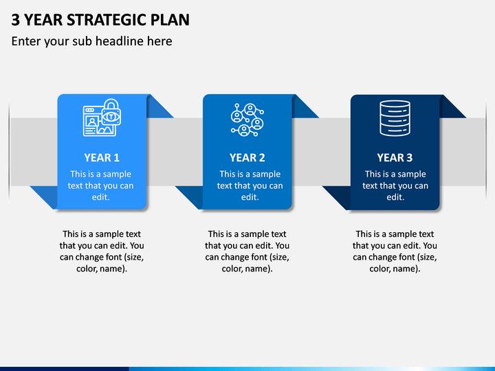 3 Year Strategic Plan PPT Slide 1