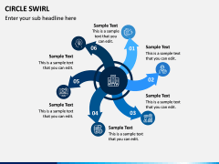 Circle Swirl PPT Slide 9