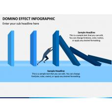 Domino Effect Infographic PPT Slide 1