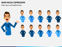 Man Facial Expression PPT Slide 6