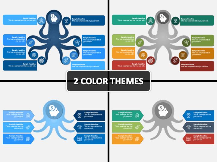 Octopus Diagram PPT Cover Slide