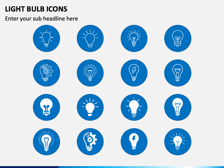 Light Bulb Icons PPT Slide 1