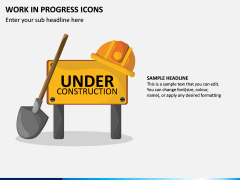 Work in Progress (WIP) Icons PPT Slide 1