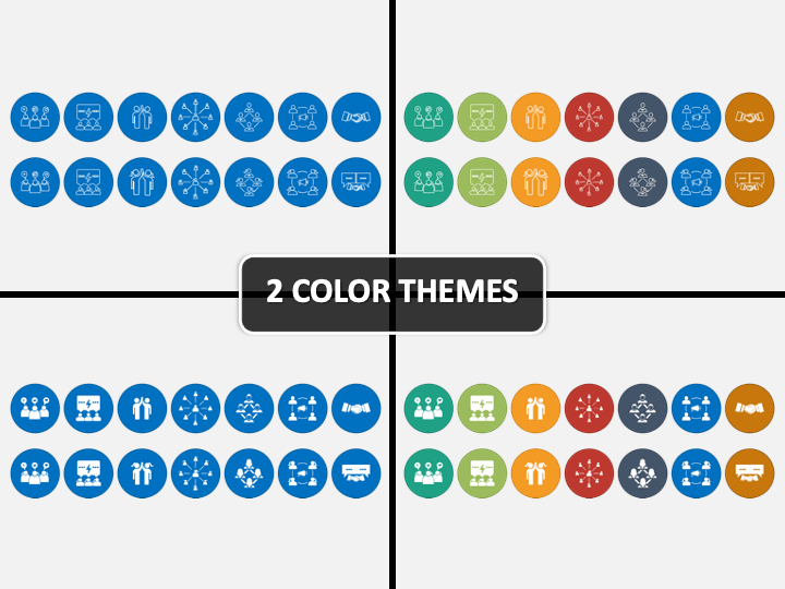Engagement Icons PPT Cover Slide