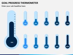 Goal Progress Thermometer PPT Slide 4
